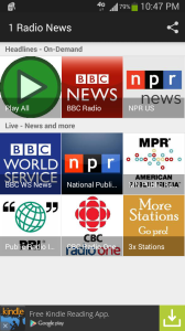 1 Radio News Screenshot