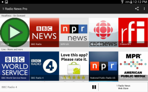 1 Radio News Tablet Screen Shot